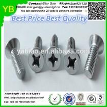 Cross screws with flat head,high quality screws