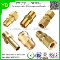 ISO9001:2008 Customized copper nipple connector /brass pipe connector /brass pipe fitting