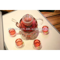 Double-walled Heat resistant Borosilicate Glass Teapot with filter