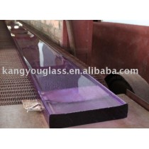 purple crystal glass slab