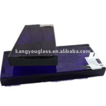 blue decorative glass block
