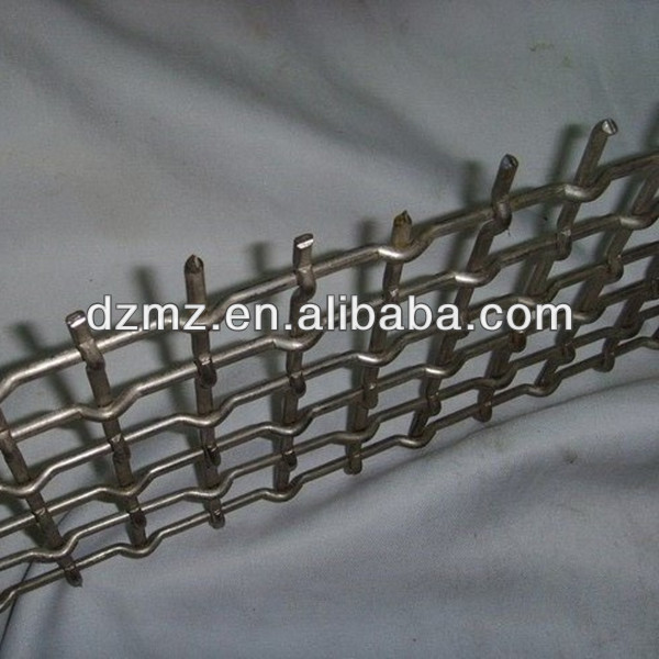 Crimped stainless steel filter mesh with