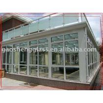 6.38mm lamianted patteren balcony handrail glass
