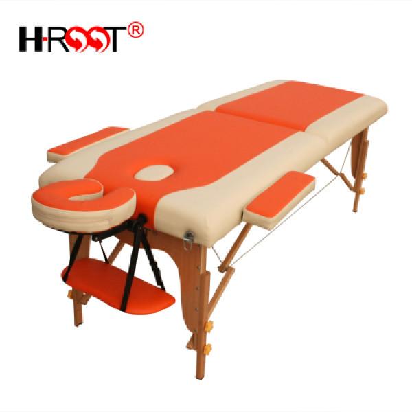 高档双色实木收折按摩床推拿床