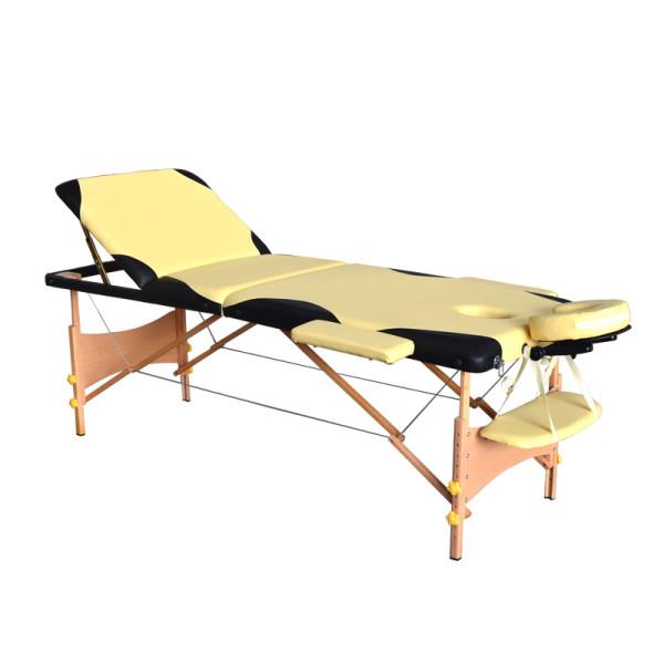 双色设计木制收折按摩推拿床