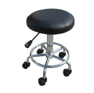 H-ROOT Chrome Legs Gas Lift Bar Stool