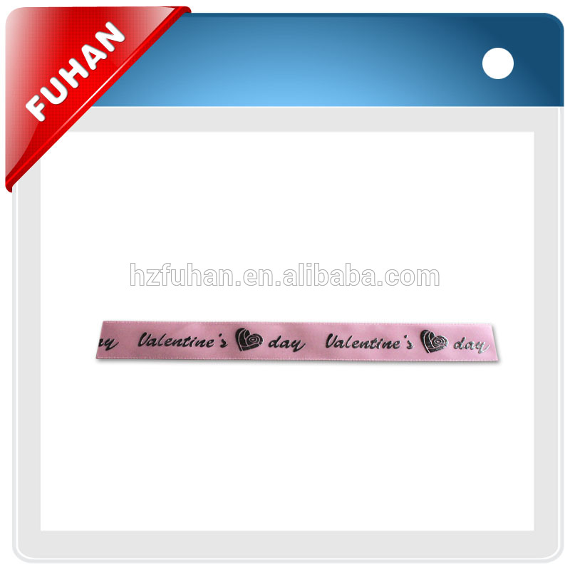 Newest style rainbow barcode grosgrain single satin ribbon for apparel /gift box