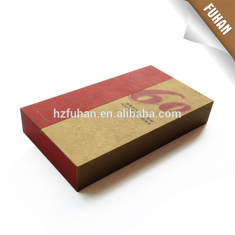 Custom order top quality eco-friendly style biodegradable texture box for food/clothing