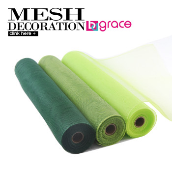 deco poly mesh for flower wrapping