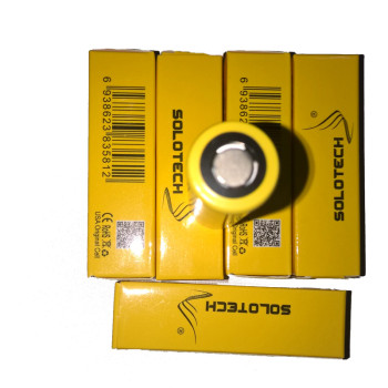 Wholesale price Solotech 18500 battery yellow IMR 18500 1100mah 20A battery 3.7v 18500 battery flat top