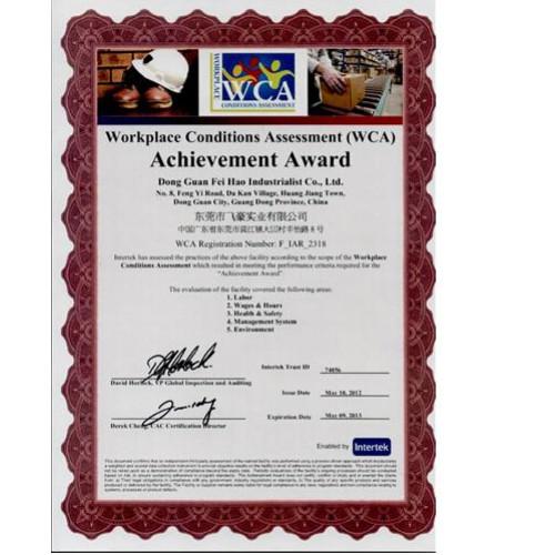WCA certificate