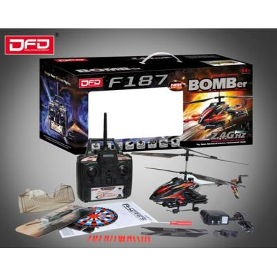 F187 Popular Two Color 2.4G 3 channel Remote Control Electric Toy Helicopter