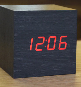 Wholesale ZJ-008 Red Light Square Hight Quality MDF Digital Wooden Clcok