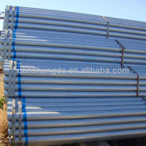zinc coating steel pipe price and size