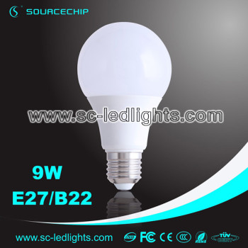 A65 dimmable led bulb 9W e27 led light bulb supply