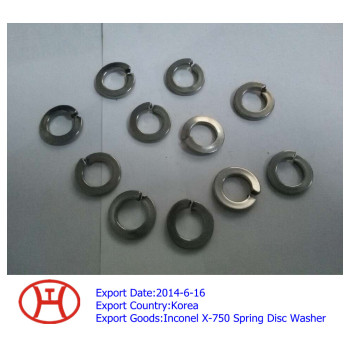 Inconel X-750 spring disc washer