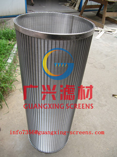 wedge wire screen for selfcleaning filter