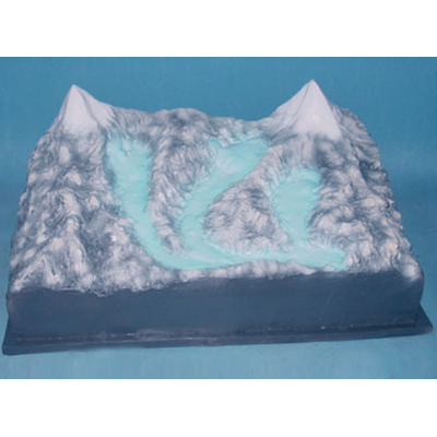 GEOGRAPHY TEACHING MODEL SMALL GLACIER LANDFORM MODEL GEOGRAPHICAL SIMULATION GASEN-R210103