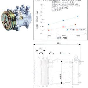 Sd505 sd5h09 auto compressor da ca