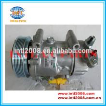Ac auto ( um/ c ) compressor para citroen e peugeot fiat 2006 6v12, oem#9655191580