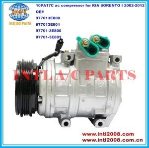977013e800 977013e801 97701- 3e800 97701- 3e801 denso 10pa17c auto ar-condicionado compressor ac para kia sorento 2002-2012 i