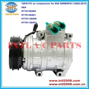 China supply 977013E800 977013E801 97701-3E800 97701-3E801 DENSO 10PA17C auto air-con ac compressor for KIA SORENTO I 2002-2012