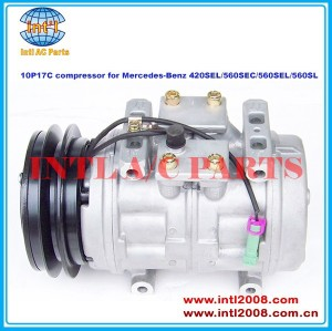 Klimakompressor auto ac( um/c) compressor denso 10p17c para mercedes- benz 420 sel/560 seg/560 sel/560sl co6003rw