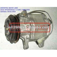 Sca06e/sc06e um/c compressor para daihatsu 447220-6900 mover l900/sirion m100s 1998-2005/storia 2003 447200-9880 88320-97208-000