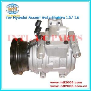 Denso 10pa15c compressor ac para hyundai getz accent elantra 1.5/1.6 2000-2014 p30013-0870 16040-13500 97701- 2d500 p300130870