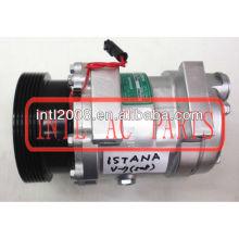 Sanden 508 pv6 compressor ac adaptar substituição para delphi v5 ssangyongistana( ônibus)