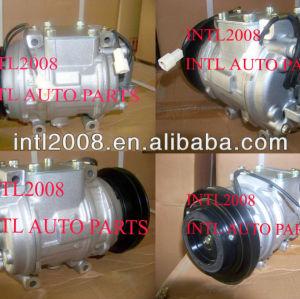 Denso 10PA15VC / 10PA15VL con a / c ac compressor de ar do carro Mitsubishi Pajero NH NJ 1991-1998 447200-0530 447200-0532 1PK polia novo