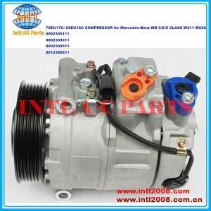 Denso 7seu17c/6seu16c 0002305111 0002309011 0002309511 0012300811 auto compressor da ca para mercedes- benz mb c/seja/classe s w211 w220