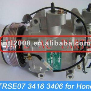 Trse07 pv5 carro compressor ac para honda jazz/caber/cidade sanden 3416 3406 ac compressor de ar condicionado