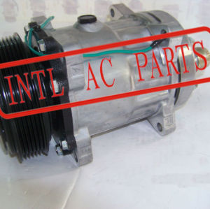 Auto ar condicionado compressor ac pv8 polia kompressor sanden sd709 sd-709 7h15 sd7h15 universal ac usado kompresor