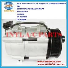 55111411ad 55111411ae 55111411ah co 10902sc 10902x hs-18 hs18 auto compressor da ca para dodge ram 2500/3500/4500/5500