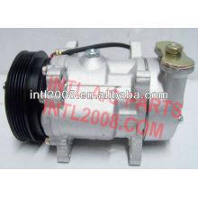 Condicionador de ar a/c compressor sanden 7v12 peugeot citroen 5pk 6453n1 6453gc 9616821580 1502 1400a 1500 1500f kompressor ac