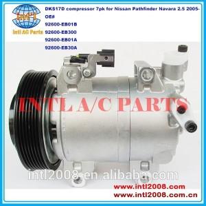 92600-eb01b 92600-eb300 92600-eb01a 92600-eb30a dks17d auto compressor da ca para nissan pathfinder navara 2.5 2005- 7pk