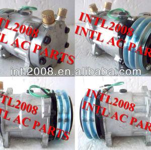 Brand new sd7h15 sanden 7h15 8126 um/c condicionador de ar compressor 24v 2a& polia embreagem