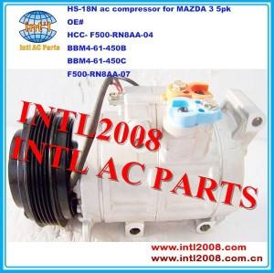 Bbm4-61-450b bbm4-61-450c bbm461450c bbm461450b hs18n hs-18n hs18 auto compressor da ca para mazda 3 2010-2013
