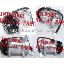 Sanden 5h11 507 sd507 carro compressor ac para peugeot auto ar condicionado um/c compresor com 4pk polia
