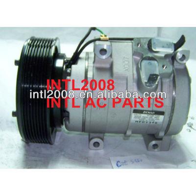 Denso 10s17c- 8pk- 144mm compressor ac, ar condicionado para a caterpillar escavadeira cat 330c 4472608391 gp2597243 1785545 2457779