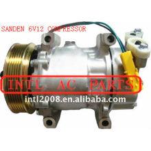 sanden sd6v12 1439 1438 1430 ac compressor de ar condicionado para peugeot 206 307 citroen berlingo xsara c2 9646273880 6453jl