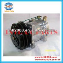 sanden 4652 709 7h15 sd709 sd7h15 ac auto compressor de ar universal con kompressor 2pk polia 24v 125mm bombas de ar condicionado