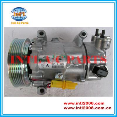Sanden 6c12 sd 6c12 ac compressor de ar condicionado para citroen 307 207 308 9651910980 9678656080-02 96519109