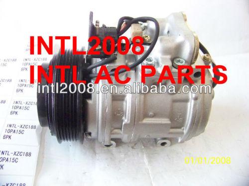 Denso 10pa15c compressor ac para mercedes- benz w124 300le l6 3.0l 88-93 1021310001 a0002301111 1021300115 147100-5020