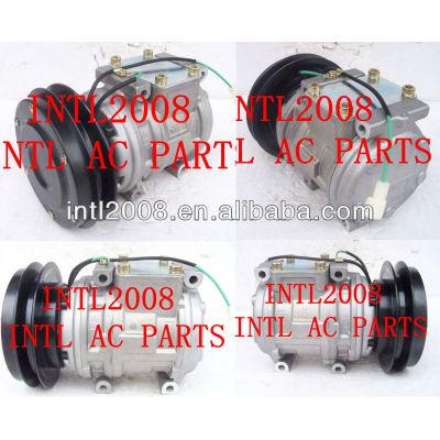 Denso 10pa15c con air um/compressor ac para escavadeira komatsu crawlers dumpers kubota construção 20y-979-3111 447100-3460