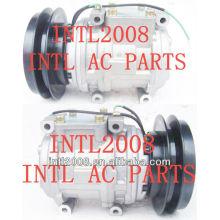 Air compressor ac komatsu denso 10pa15c 24v 1pk 447200-1741 447200-0246 4472001741 4472000246 1959118990 4250721180 20y9793110