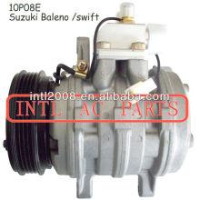 Denso 10p08e AC Compressor para Geo Metro / Tracker Suzuki Baleno / Sidekick / Swift / X-90 95200-67A50 95230-82115 95230-83000 471-0296