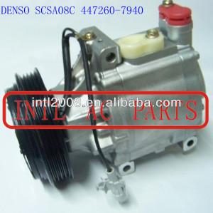 Denso scsa08c ar condicionado um comp/compressor ac para subaru subaru legacy liberty 447260-7940 4472607940