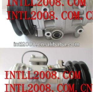 Denso 10P25B 2PK ac compressor for Hino Rainbow/Toyota Coaster bus 24V 047200-6290 047300-3250 147100-4210 1471004210